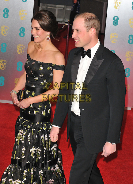 HRHs Kate, Duchess of Cambridge &amp; William, Duke of Cambridge at the EE British Academy Film Awards (BAFTAs) 2017, Royal Albert Hall, Kensington Gore, London, England, UK, on Sunday 12 February 2017.<br /> CAP/CAN<br /> &copy;CAN/Capital Pictures