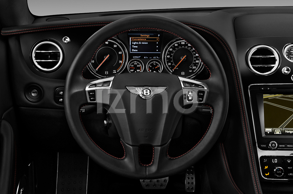 Car pictures of steering wheel view of a 2017 Bentley Continental-GT V8 3 Door Coupe Steering Wheel