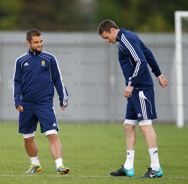 Shaun Maloney with old pal Stephen McManus