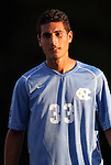 31 August 2012: UNC's Raby George (SWE). The University of North Carolina Tar Heels defeated the West Virginia University Mountaineers 1-0 at Fetzer Field in Chapel Hill, North Carolina in a 2012 NCAA Division I Men's Soccer game.