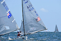 Finn / Caleb PAINE (USA)<br /> ISAF Sailing World Cup Final - Melbourne<br /> St Kilda sailing precinct, Victoria<br /> Port Phillip Bay Tuesday 6 Dec 2016<br /> &copy; Sport the library / Jeff Crow