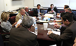 Nevada Senate Republicans work in a caucus Monday, May 30, 2011, at the Legislature in Carson City, Nev..Photo by Cathleen Allison