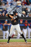 West Virginia Black Bears third baseman Will Craig (28) at bat during a game against the Batavia Muckdogs on June 29, 2016 at Dwyer Stadium in Batavia, New York.  West Virginia defeated Batavia 9-4.  (Mike Janes/Four Seam Images)
