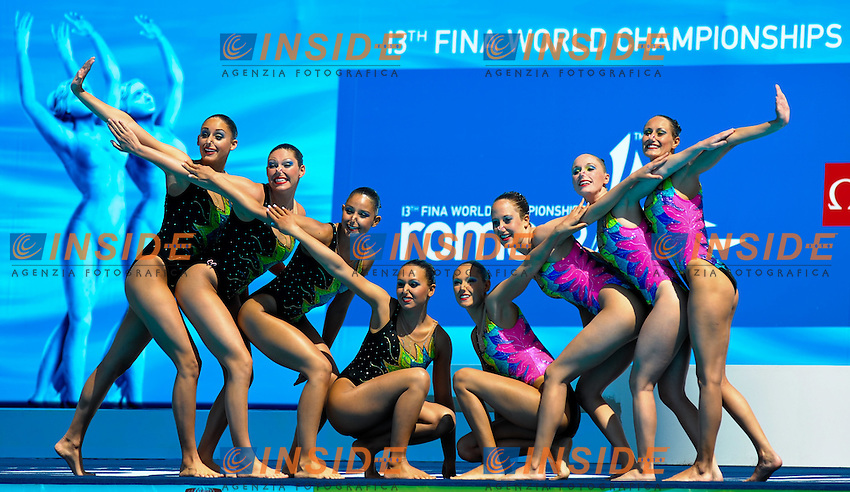 Roma 18th JULY 2009 - 13th Fina World Championships .From 17th to 2nd August 2009.Synchro Technical Team.UNITED STATES (USA).Roma2009.com/InsideFoto/SeaSee.com
