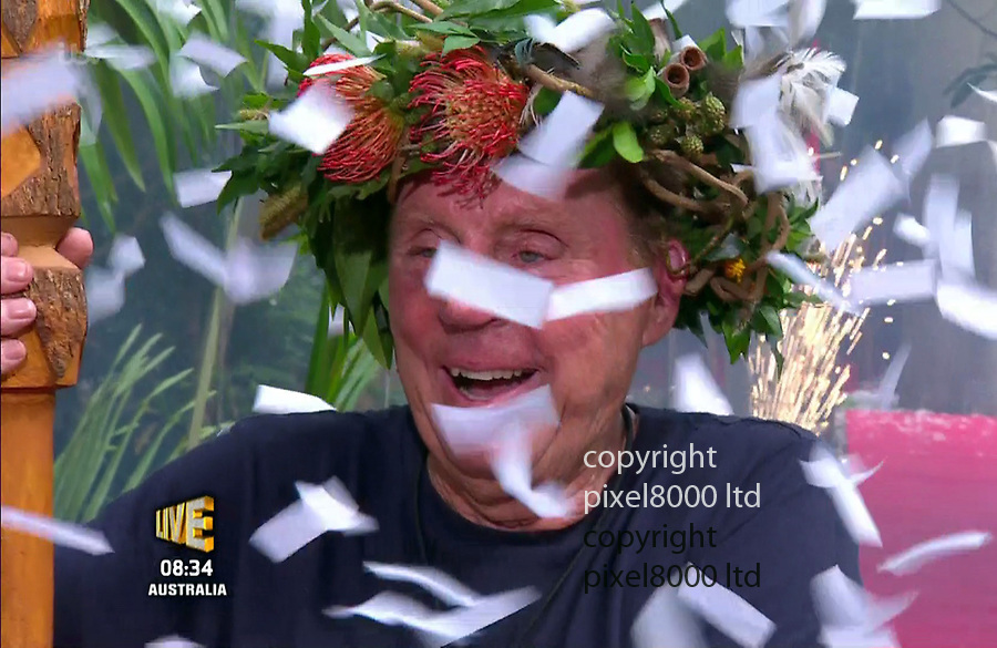 Pic shows: I'm a Celebrity final 2018<br /> <br /> Redknapp wins King of the Jungle<br /> <br /> Declan Donnelly presents with Holly Willoughby as<br /> <br /> Harry Redknapp and  Emily Atack final two<br /> <br /> <br /> <br /> <br /> <br /> supplied by Pixel8000 Ltd