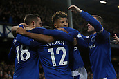 2nd December 2017, Goodison Park, Liverpool, England; EPL Premier League football, Everton versus Huddersfield Town;  Everton celebrate the opening goal by Gylfi Sigurdsson of Everton after 47 minutes