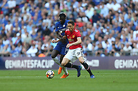 Manchester United's Nemanja Matic and Chelsea's Tiemoue Bakayoko<br /> <br /> Photographer Rob Newell/CameraSport<br /> <br /> Emirates FA Cup Final - Chelsea v Manchester United - Saturday 19th May 2018 - Wembley Stadium - London<br />  <br /> World Copyright &copy; 2018 CameraSport. All rights reserved. 43 Linden Ave. Countesthorpe. Leicester. England. LE8 5PG - Tel: +44 (0) 116 277 4147 - admin@camerasport.com - www.camerasport.com