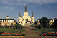 Saint Louis Cathedral, New Orleans, French Quarter, Louisiana, LA, St. Louis Cathedral in Jackson Square in the French Quarter of New Orleans.