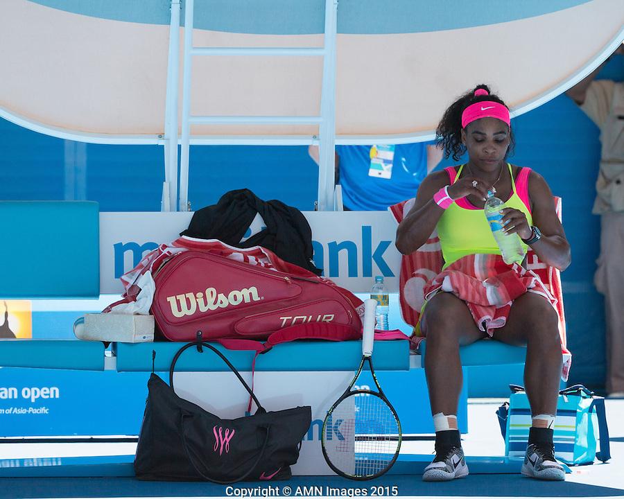 Serena Williams (USA)<br /> <br /> Tennis - Australian Open 2015 - Grand Slam -  Melbourne Park - Melbourne - Victoria - Australia  - 24 January 2015. <br /> &copy; AMN IMAGES