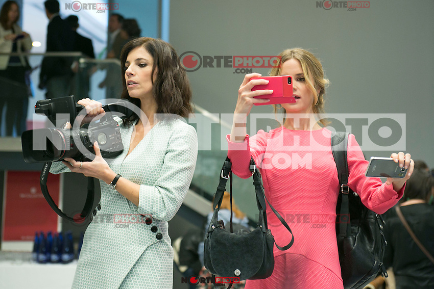 "Maribel Verdu and Paula Cancio attend the Presentation of ""Happy 140"" (Felices 140) Movie at Eurobuilding Hotel, Madrid,  Spain. April 07, 2015.(ALTERPHOTOS/)Carlos Dafonte) /NORTEphoto.com"