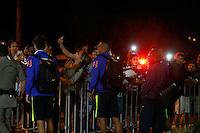 GOIANIA, GO, 28.07.2016 - BRASIL-JAPÃO -Jogadores  durante chegada da seleção brasileira ao  Hotel Alpha Park em Goiânia nesta quinta-feira, 28.  (Foto: Marcos Souza/Brazil Photo Press)