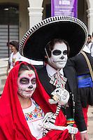 SÃO PAULO,SP, 01.11.2015 - EXPOSIÇÃO-SP - Movimentação de visitantes no Museu da Imigração, na Mooca, zona leste da capital paulista, neste domingo (1). O museu promove o evento 'Dia de los Muertos' (Dia dos Mortos) em celebração à tradicional festa mexicana. (Foto: Darcio Nunciatelli/Brazil Photo Press)