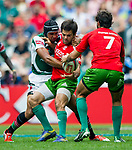 Kenya play Portugal in the Cup Quarter Final on Day 3 of the Cathay Pacific / HSBC Hong Kong Sevens 2013 on 24 March 2013 at Hong Kong Stadium, Hong Kong. Photo by Xaume Olleros / The Power of Sport Images