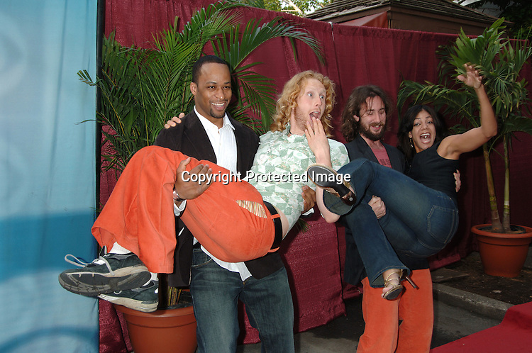 """Eric and Jeremy and Yolanda and Ray ..from """"The Big Race""""..arriving at the CBS Upfront for their 2006 Fall Primetime S..Schedule on May 17, 2006 at Tavern on the Green. ..Robin Platzer, Twin Images"""