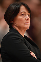 05.02.2017 Silver Ferns Head Coach Janine Southby during the Silver Ferns v Proteas netball test match played at Wembley Arena  in London, England. Mandatory Photo Credit ©Joe Toth/Michael Bradley Photography