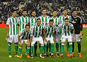 30th October 2017, Cornella-El Prat, Cornella de Llobregat, Barcelona, Spain; La Liga football, Espanyol versus Real Betis; Real Betis line up