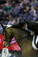 OMAHA, NEBRASKA - MAR 30: Marcela Krinke-Susmelj rides Smeyers Molberg during the FEI World Cup Dressage Final I at the CenturyLink Center on March 30, 2017 in Omaha, Nebraska. (Photo by Taylor Pence/Eclipse Sportswire/Getty Images)