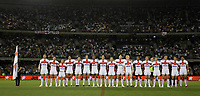 PICTURE BY VAUGHN RIDLEY/SWPIX.COM - Rugby League - Rugby League World Cup 2008 - England v Australia - Telstra Dome, Melbourne, Australia - 02/11/08...Copyright - Simon Wilkinson - 07811267706...England lineup for National Anthems.