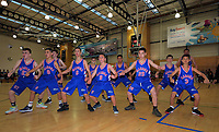 Boys' basketball final between Maeroa Intermediate and Heretaunga Intermediate on Day six of the 2019 AIMS games at Baypark in Mount Maunganui, New Zealand on Friday, 13 September 2019. Photo: Dave Lintott / lintottphoto.co.nz