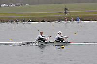 060 RGSHighWycombe J16A.2x..Marlow Regatta Committee Thames Valley Trial Head. 1900m at Dorney Lake/Eton College Rowing Centre, Dorney, Buckinghamshire. Sunday 29 January 2012. Run over three divisions.