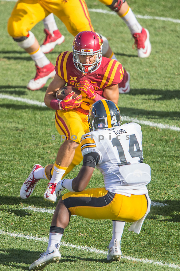 Iowa State Cyclones Trever Ryen (19) during a game against the Iowa Hawkeyes on September 12, 2015 at Jack Trice Stadium in Ames, Iowa. Iowa beat Iowa State 31-17.
