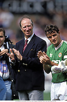 11th August 1991; Manchester, England; JACK CHARLTON (Ireland Manager), Manchester United  versus REPUBLIC OF IRELAND XI