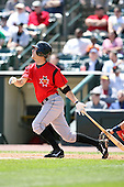May 12, 2009:  Second Baseman Shelby Ford of the Indianapolis Indians, International League Class-AAA affiliate of the Pittsburgh Pirates, at bat during a game at Frontier Field in Rochester, FL.  Photo by:  Mike Janes/Four Seam Images