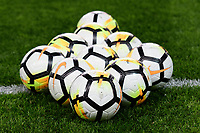 Harrison, NJ - Thursday March 01, 2018: Soccer balls. The New York Red Bulls defeated C.D. Olimpia 2-0 (3-1 on aggregate) during a 2018 CONCACAF Champions League Round of 16 match at Red Bull Arena.