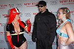 Left to right, Coco Austin, Ice-T and Coco's sister arrive at Heidi Klum's 18th Annual Halloween Party presented by Party City and SVEDKA Vodka at Magic Hour Rooftop Bar & Lounge at Moxy Times Square, on October 31, 2017.