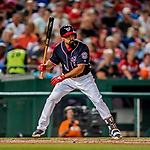 21 September 2018: Washington Nationals third baseman Anthony Rendon in action against the New York Mets at Nationals Park in Washington, DC. The Mets defeated the Nationals 4-2 in the second game of their 4-game series. Mandatory Credit: Ed Wolfstein Photo *** RAW (NEF) Image File Available ***