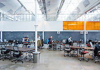 "Galvanize, a tech incubator in Denver, Colorado, Friday, March 1, 2013. Galvanize is a space created to give new tech companies a community atmosphere to work in. Their mission states: Galvanize creates an ""innovation ecosystem"" designed to give entrepreneurs and innovators the best chance of success at the start of their next (or first) big thing. Through the three pillars of Capital, Community, and Curriculum, Galvanize builds a community greater than the sum of its parts to spark disruptive ideas and breakout companies."