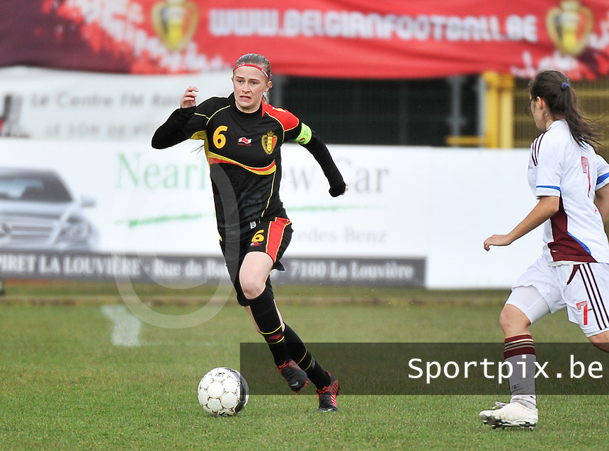 Russia U19 - Belgium U19 : Julie Biesmans.foto DAVID CATRY / Nikonpro.be
