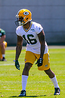 Green Bay Packers wide receiver DeAngelo Yancey (16) during an OTA on June 1, 2017 at Clark Hinkle Field in Green Bay, Wisconsin. (Brad Krause/Krause Sports Photography)