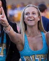 Pitt fan. The Pitt Panthers defeated the Gardner-Webb Runnin Bulldogs 55-10 at Heinz Field, Pittsburgh PA on September 22, 2012..