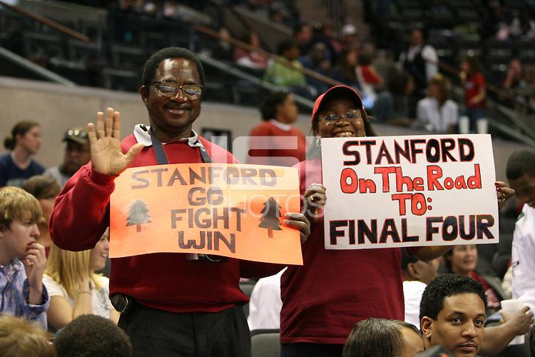 25 March 2006: Fans during Stanford's 88-74 win over the Oklahoma Sooners during the NCAA Women's Basketball tournament in San Antonio, TX.