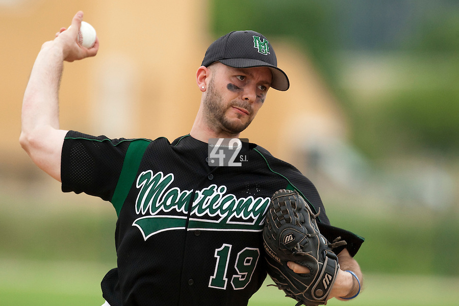 22 May 2009: Olivier Berrebi of Montigneux pitches against Senart during the 2009 challenge de France, a tournament with the best French baseball teams - all eight elite league clubs - to determine a spot in the European Cup next year, at Montpellier, France.