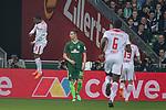 15.04.2018, Weser Stadion, Bremen, GER, 1.FBL, Werder Bremen vs RB Leibzig, im Bild<br /> <br /> jubel 1 zu 1 Terrence Boyd (RB Leipzig #18)<br /> <br /> Foto &copy; nordphoto / Kokenge