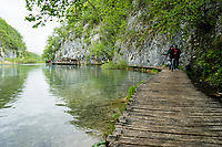 Walkway on the lower lakes, Plitvice Lakes NP, Croatia