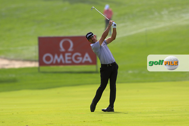 Wade Ormsby (AUS) on the 1st during Round 1 of the Omega Dubai Desert Classic, Emirates Golf Club, Dubai,  United Arab Emirates. 24/01/2019<br /> Picture: Golffile | Thos Caffrey<br /> <br /> <br /> All photo usage must carry mandatory copyright credit (&copy; Golffile | Thos Caffrey)