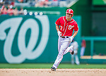 31 May 2014: Washington Nationals outfielder Scott Hairston rounds the bases after hitting a two-run homer in the 6th inning against the Texas Rangers at Nationals Park in Washington, DC. The Nationals defeated the Rangers 10-2, notching a second win of their 3-game inter-league series. Mandatory Credit: Ed Wolfstein Photo *** RAW (NEF) Image File Available ***