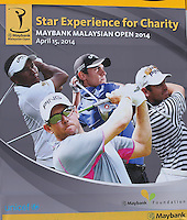 Signage for the charity shooting competition during the preview days of the 2014 Maybank Malaysian Open at the Kuala Lumpur Golf & Country Club, Kuala Lumpur, Malaysia. Picture:  David Lloyd / www.golffile.ie