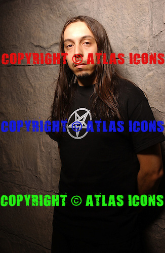 Lacuna Coil; Andrea Ferro; Studio Portrait Session, In New York City,<br />