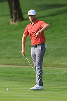 Lucas Bjerregaard (DEN) on the 1st during Round 3 of the Omega Dubai Desert Classic, Emirates Golf Club, Dubai,  United Arab Emirates. 26/01/2019<br /> Picture: Golffile | Thos Caffrey<br /> <br /> <br /> All photo usage must carry mandatory copyright credit (© Golffile | Thos Caffrey)