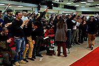 Roma 1 Marzo 2014<br /> Riunione  dei partiti dell'ultradestra europea  per un convegno dal titolo &ldquo;L&rsquo;Europa Risorge&rdquo;. Militanti di Forza Nuova applaudono i relatori del convegno.<br /> Rome, March 1, 2014<br /> Meeting of the ultra-right European parties for a conference entitled &quot;Europe is resurrects .&quot; Militants of New Force (Forza Nuova)  applaud  the speakers of the conference