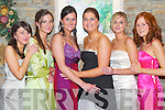 Dance: Letting their hair down at the Mounthawk Debs in the Earl of Desmond Hotel, Tralee, on Saturday evening were Una Lynch, Mounthawk, Emily Brick, The Spa, Niamh Murphy, Ballyard, Sarah Stack, The Spa, Rebecca McMahon, Blennerville, and Caoimhe Casey, Ardfert..