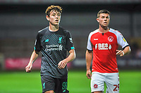 Liverpools midfielder Thomas Hill (99) during the The Leasing.com Trophy match between Fleetwood Town and Liverpool U21 at Highbury Stadium, Fleetwood, England on 25 September 2019. Photo by Stephen Buckley / PRiME Media Images.