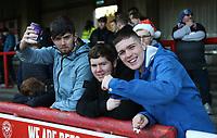 Bolton fans<br /> <br /> Photographer Rob Newell/CameraSport<br /> <br /> The EFL Sky Bet Championship - Brentford v Bolton Wanderers - Saturday 22nd December 2018 - Griffin Park - Brentford<br /> <br /> World Copyright &copy; 2018 CameraSport. All rights reserved. 43 Linden Ave. Countesthorpe. Leicester. England. LE8 5PG - Tel: +44 (0) 116 277 4147 - admin@camerasport.com - www.camerasport.com