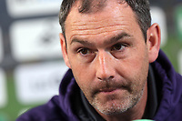 Head coach Paul Clement during the Swansea City Press Conference at the Fairwood Training Ground, Swansea, Wales, UK, Thursday 13 April 2017
