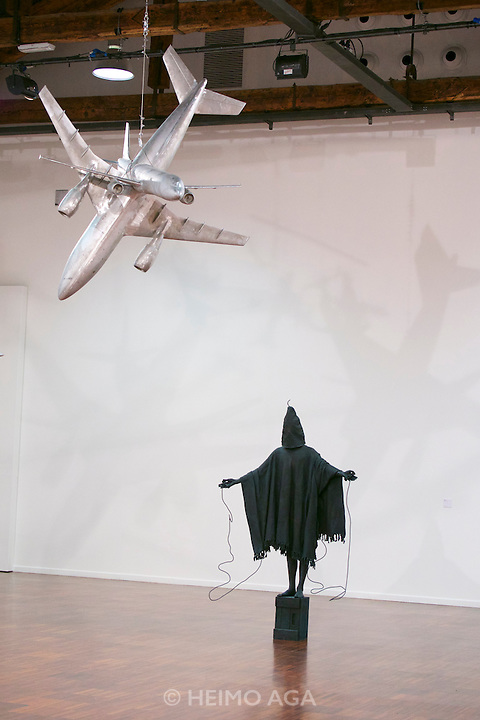 55th Art Biennale in Venice - The Encyclopedic Palace (Il Palazzo Enciclopedico).<br /> San Giorgio Maggiore, Fondazione Giorgio Cini.<br /> Marc Quinn.<br /> &quot;Mirage&quot;, 2009 (inspired by Abu Ghraib).<br /> &quot;The Sound of Silence&quot;, 2013.