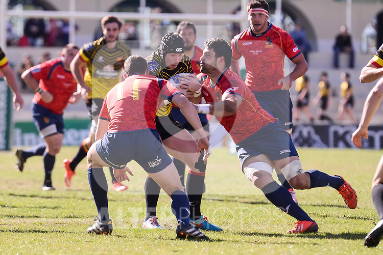 Spain's Jordi Jorba during Rugby Europe Championship 2017 match between Spain and Belgium in Madrid. March 18, 2017. (ALTERPHOTOS/Borja B.Hojas)